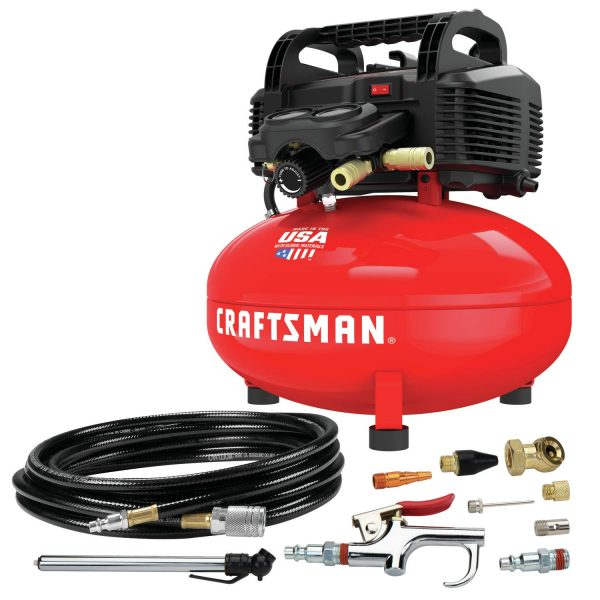 CRAFTSMAN 6 Gallon Pancake Air Compressor with 13-Piece Accessory Kit