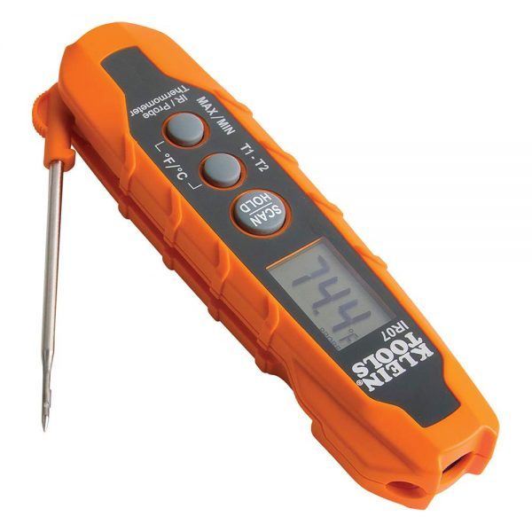 Klein Tools Dual Infrared and Probe Pocket Size Digital Thermometer