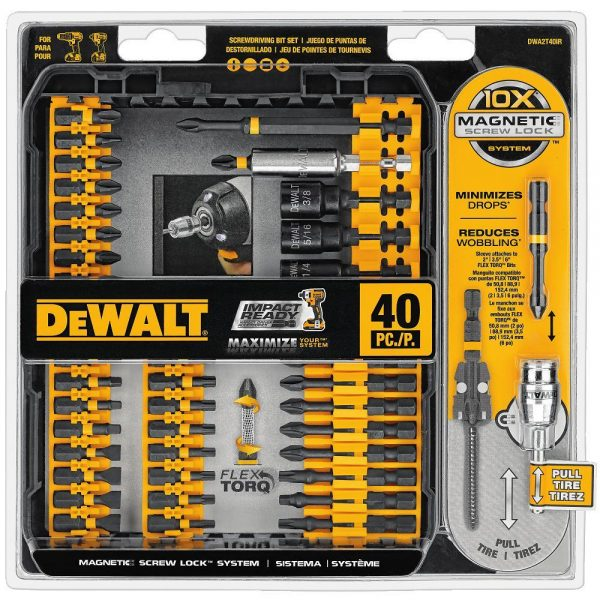 dewalt 40 piece impact driver set